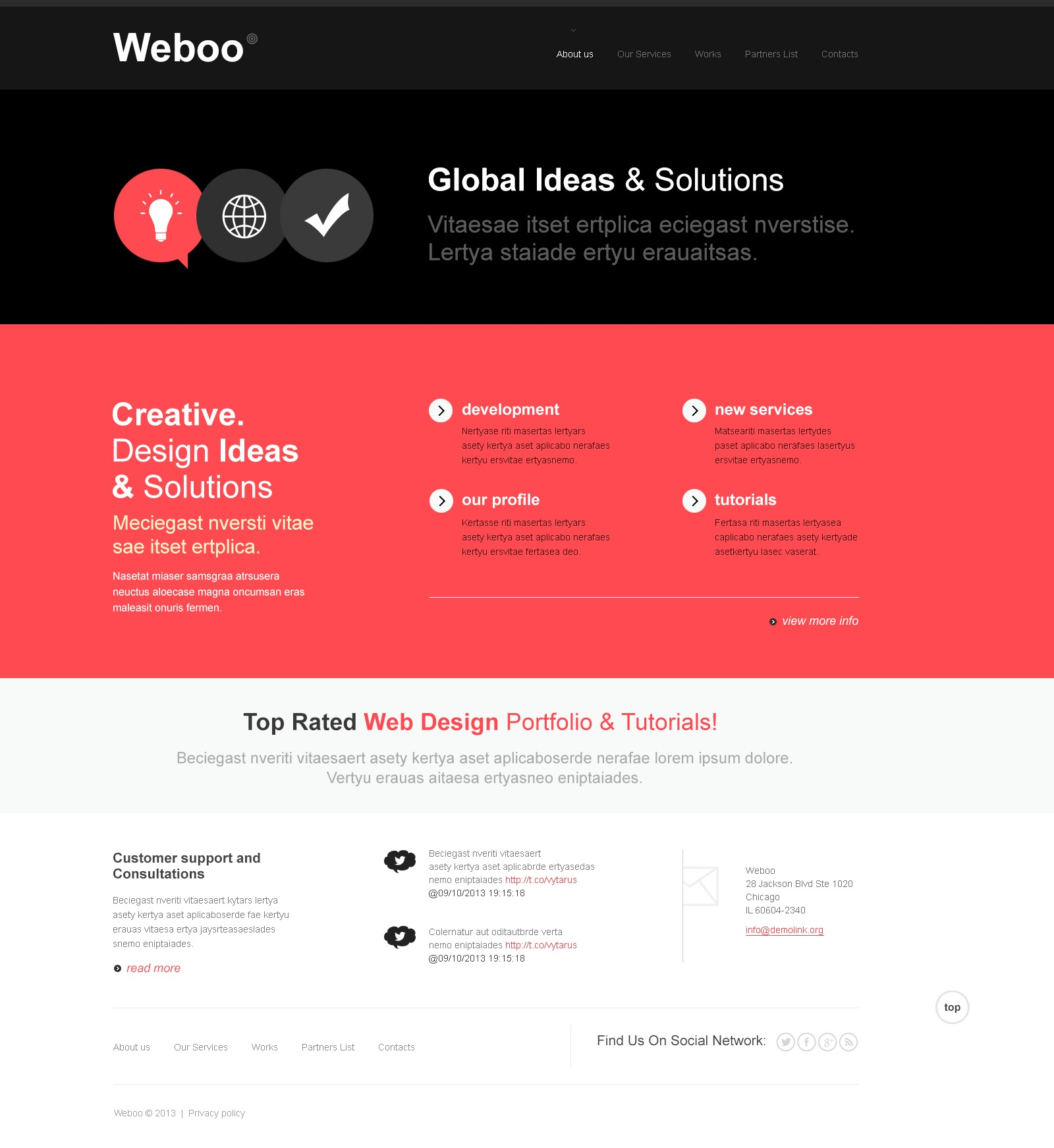 """Studio Design Bootstrap"" thème Joomla  #43614 - screenshot"