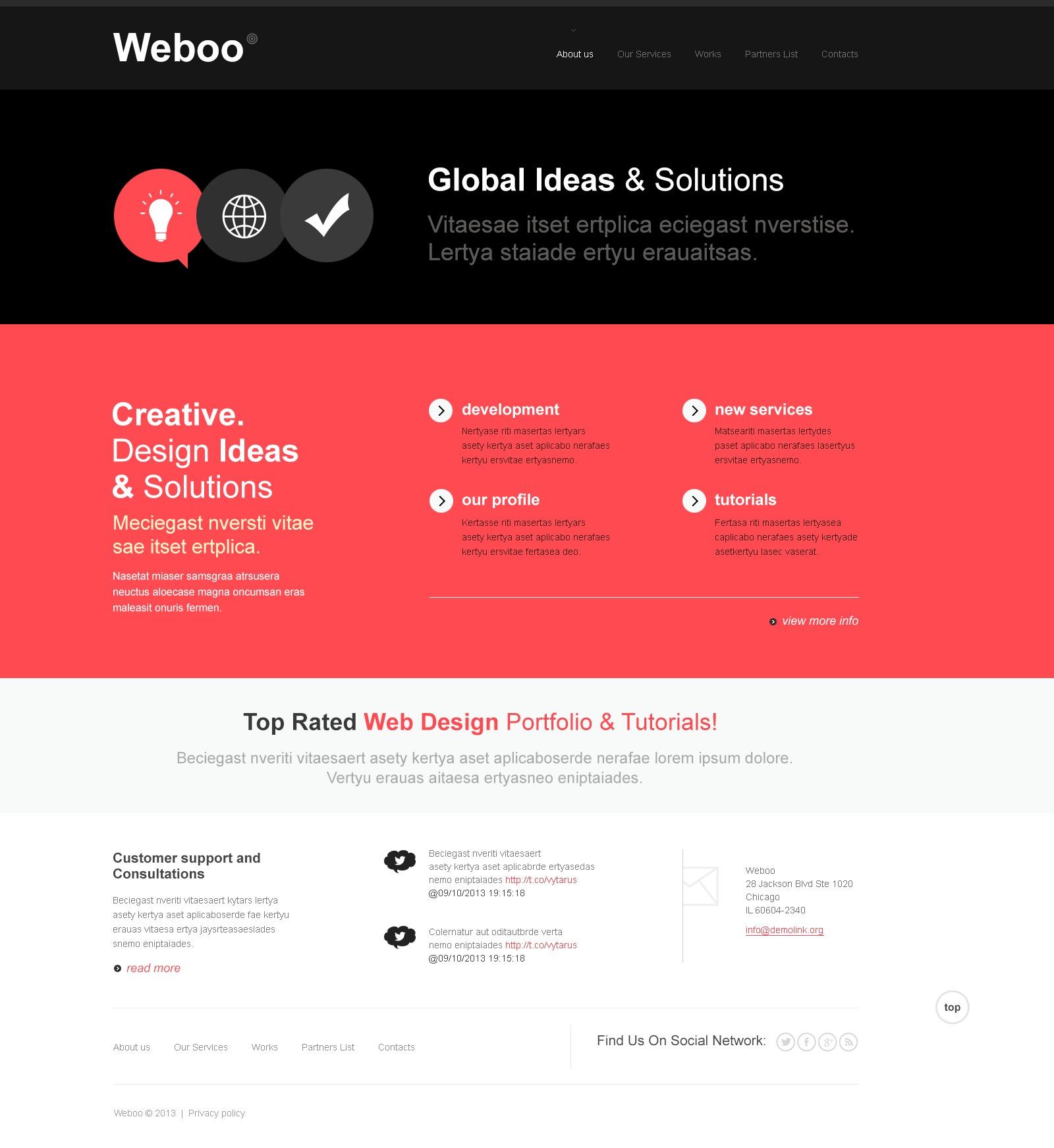 Szablon Joomla Bootstrap Design Studio #43614 - zrzut ekranu