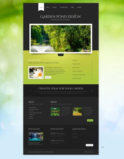 Flexível template Web №43644 para Sites de Designs de Jardim
