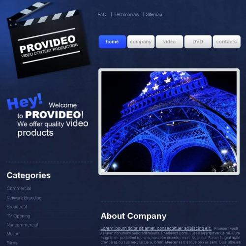 Pro Video - Facebook HTML CMS Template