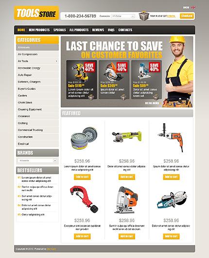 ZenCart Template 43707 Main Page Screenshot