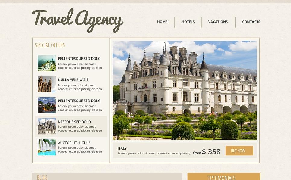 Responsywny szablon strony www #43720 na temat: biuro podróży i turystyki New Screenshots BIG