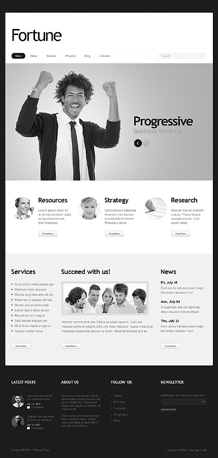 Joomla Theme/Template 43727 Main Page Screenshot