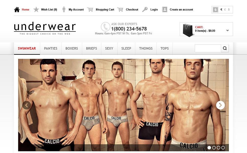 OpenCart šablona Pánské spodní prádlo New Screenshots BIG