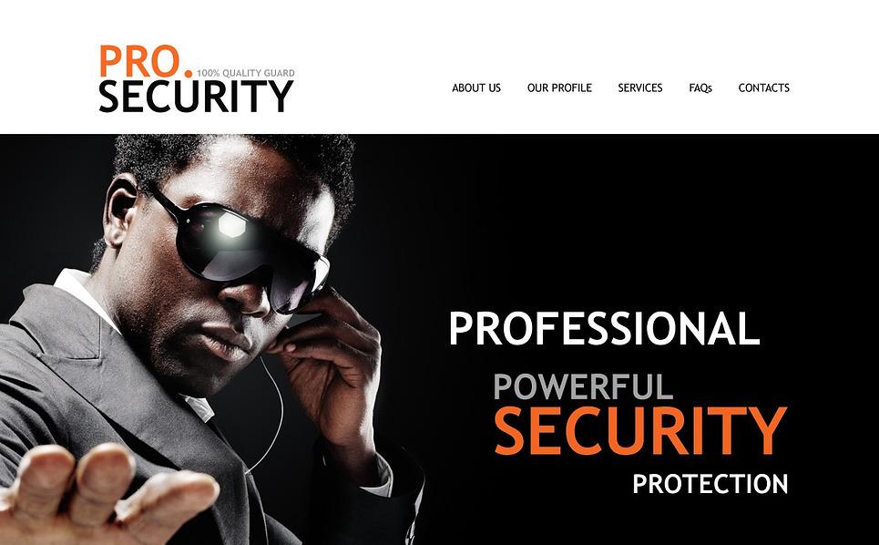 Website Vorlage für Sicherheitsdienst  New Screenshots BIG
