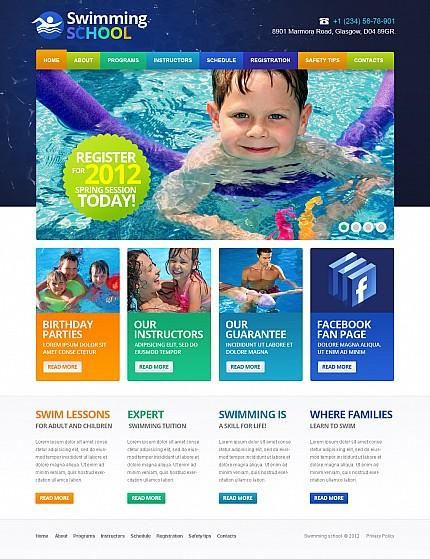 ADOBE Photoshop Template 43745 Home Page Screenshot