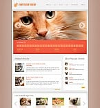 Animals & Pets Flash CMS  Template 43747