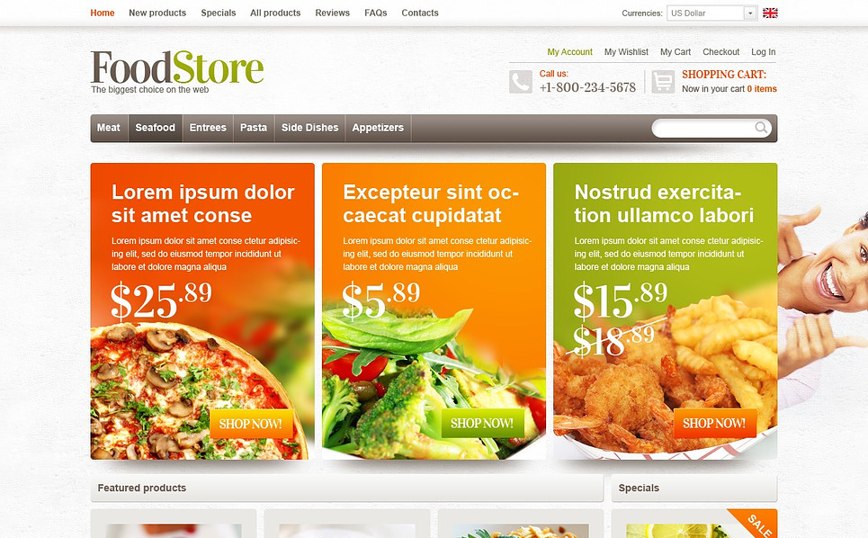 """Magasin alimentaire"" thème Zen Cart  New Screenshots BIG"