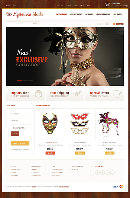 ADOBE Photoshop Template 43755 Home Page Screenshot