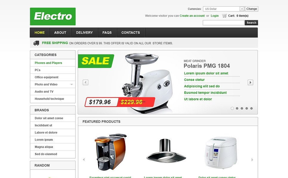 VirtueMart Template over Elektronicawinkel  New Screenshots BIG