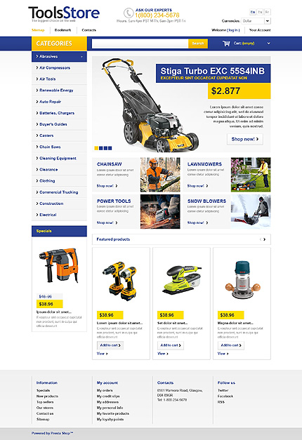ADOBE Photoshop Template 43757 Home Page Screenshot