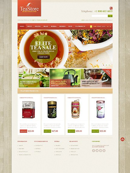 ADOBE Photoshop Template 43760 Home Page Screenshot