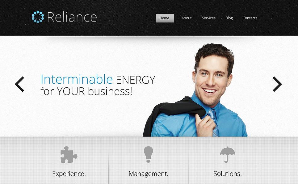 Responsive Website Vorlage für Outsourcing Unternehmen  New Screenshots BIG
