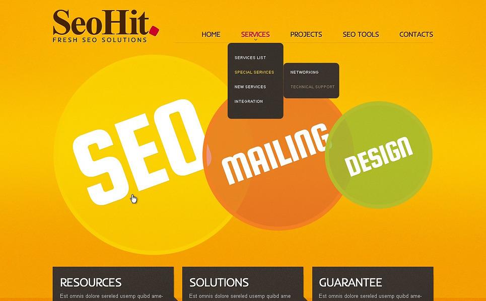 Responsive Website template over SEO Website New Screenshots BIG