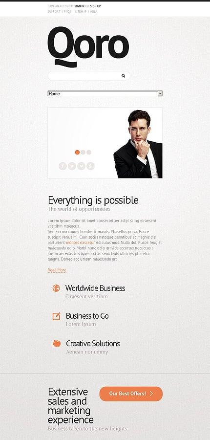 Joomla Theme/Template 43783 Main Page Screenshot