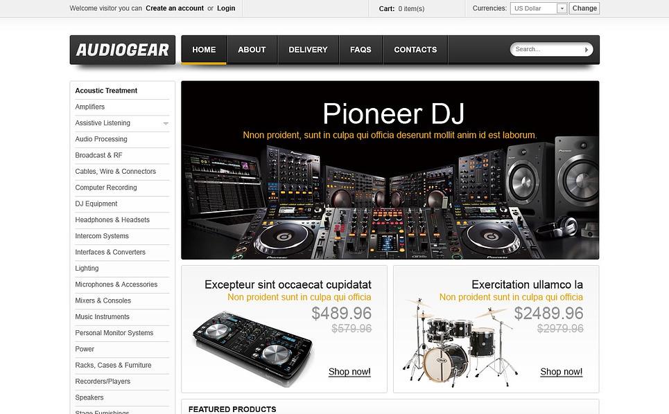VirtueMart Vorlage für Musikshop  New Screenshots BIG