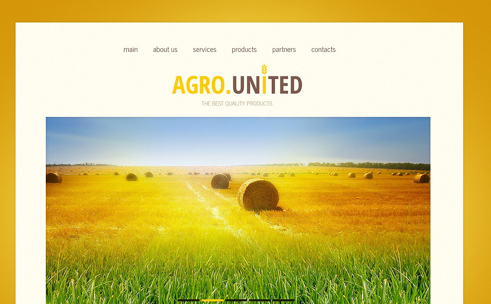Responsive Website Vorlage für Landwirtschaft  New Screenshots BIG