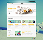 Animals & Pets Website  Template 43799