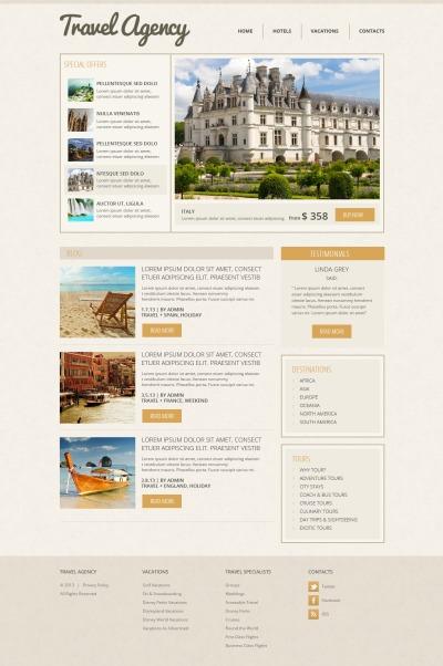 Адаптивный HTML шаблон №43720 на тему агентство путешествий