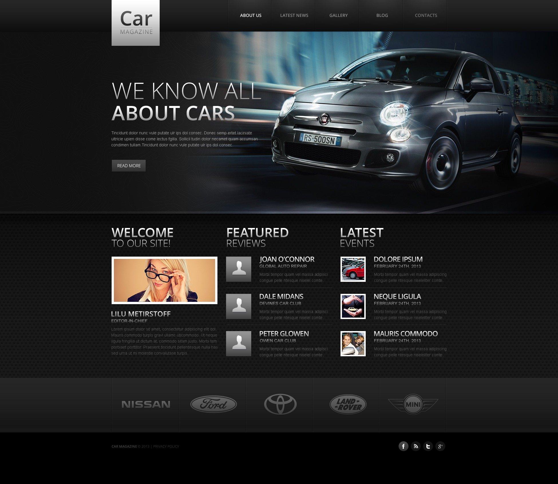 car website template 43753. Black Bedroom Furniture Sets. Home Design Ideas