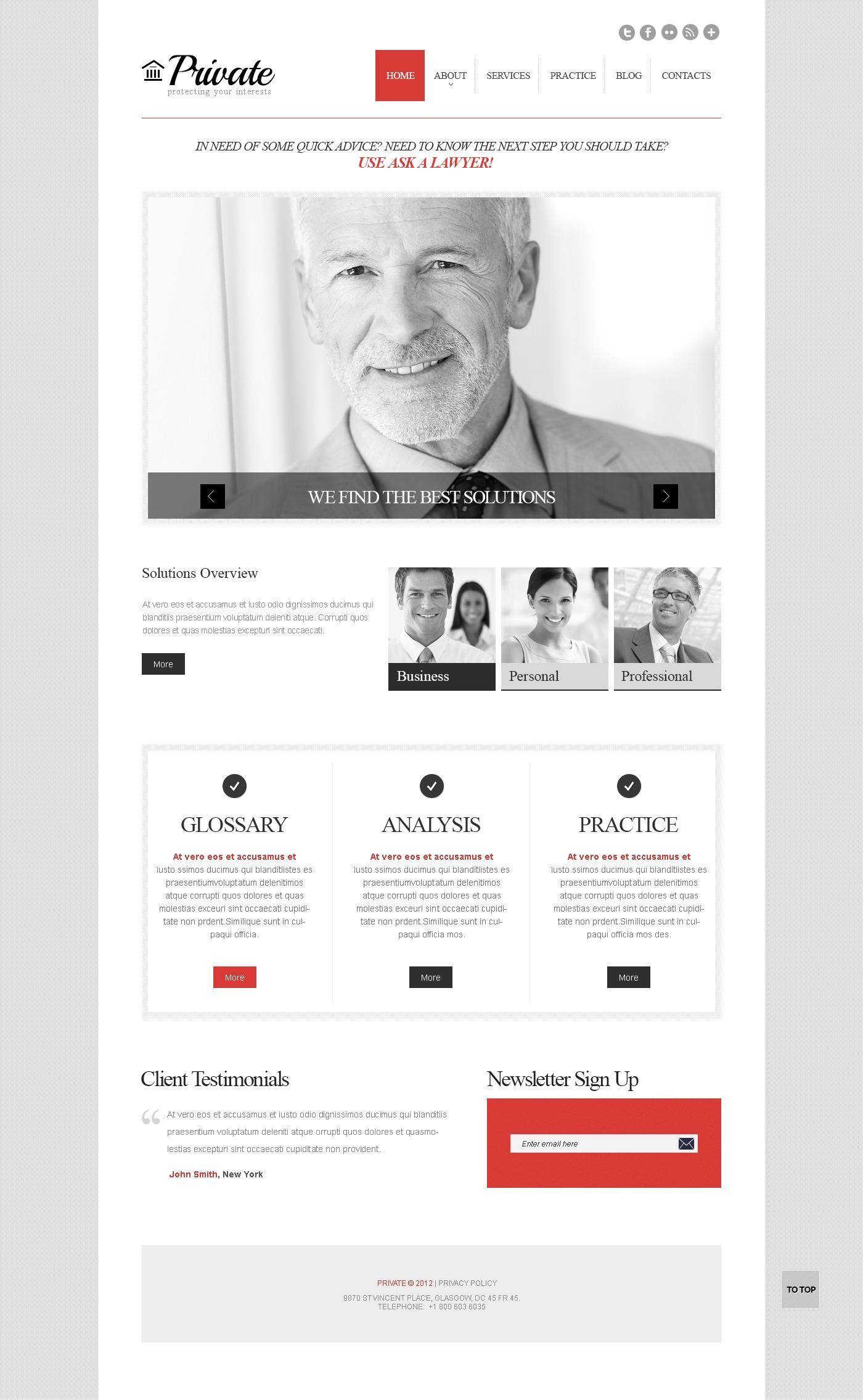 """""""Cherry Law Firm"""" - адаптивний WordPress шаблон №43776 - скріншот"""