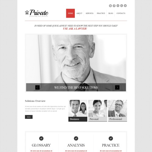 Private - WordPress Template based on Bootstrap
