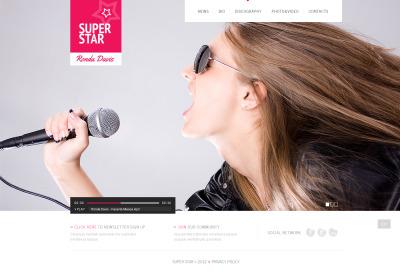 Modèle Flash CMS  pour site de chanteur