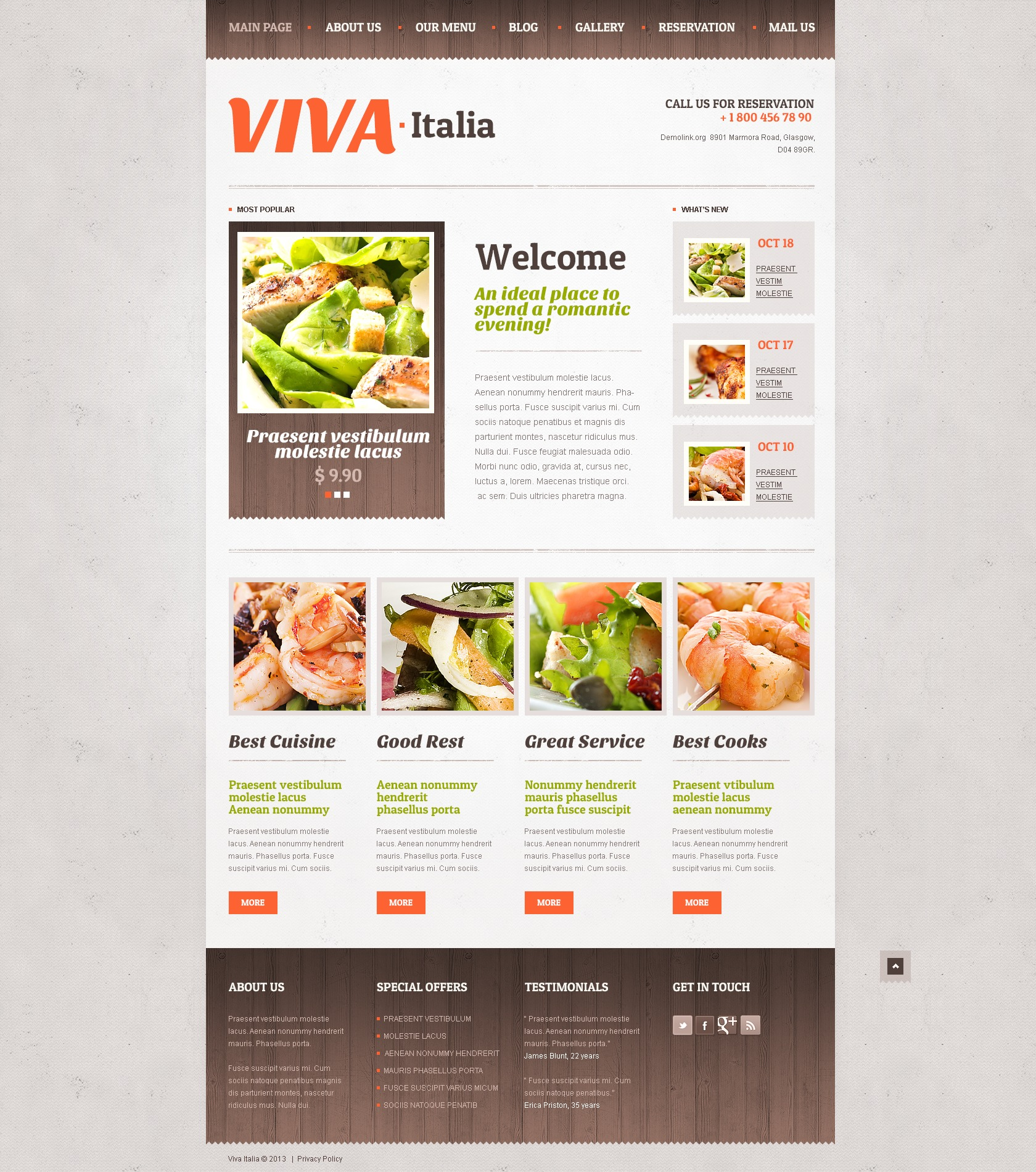 Responsive Pizza Drupal Template - screenshot