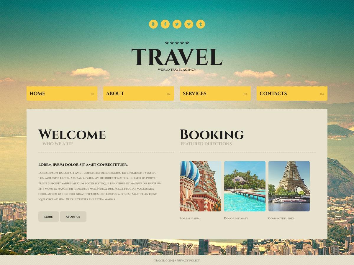 travel website template  43703