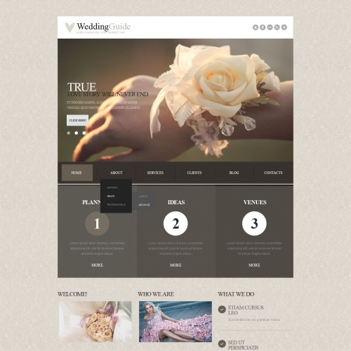 Wedding Guide - Responsive Joomla! Template
