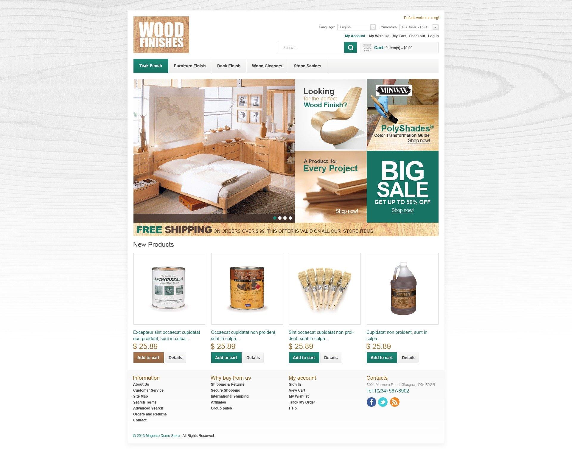 Th me magento 43806 pour site de meubles for Site ameublement