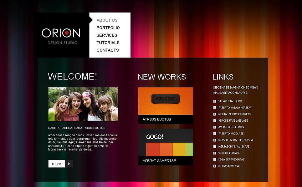Plantilla Moto CMS HTML #43814 para Sitio de Estudio de diseño New Screenshots BIG
