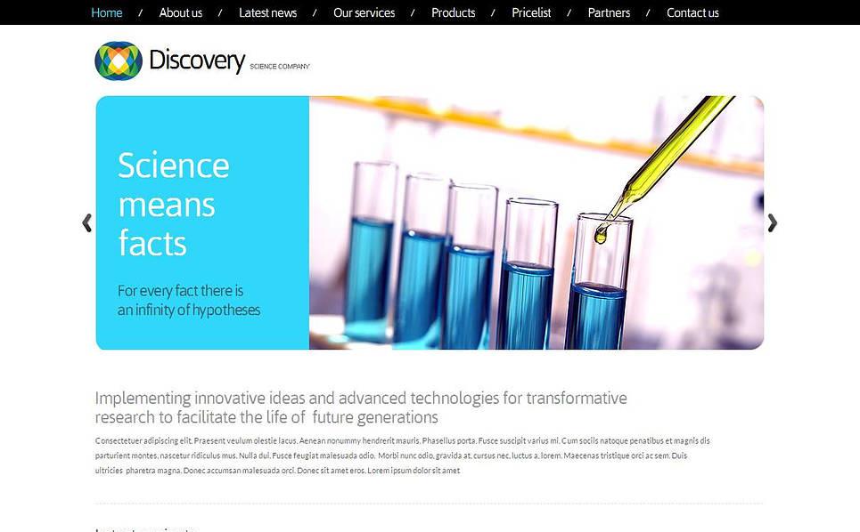 Luxusní Moto CMS HTML šablona na téma Věda New Screenshots BIG