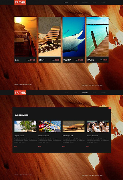 ADOBE Photoshop Template 43821 Home Page Screenshot