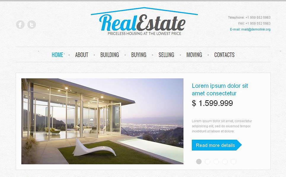 MotoCMS HTML шаблон на тему агентство нерухомості New Screenshots BIG