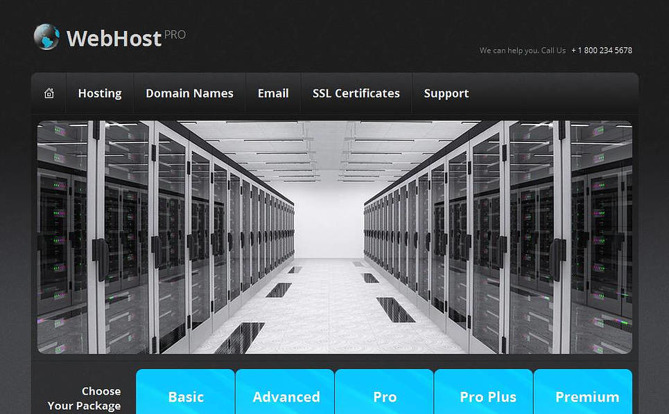 Moto CMS HTML Vorlage für Hosting  New Screenshots BIG