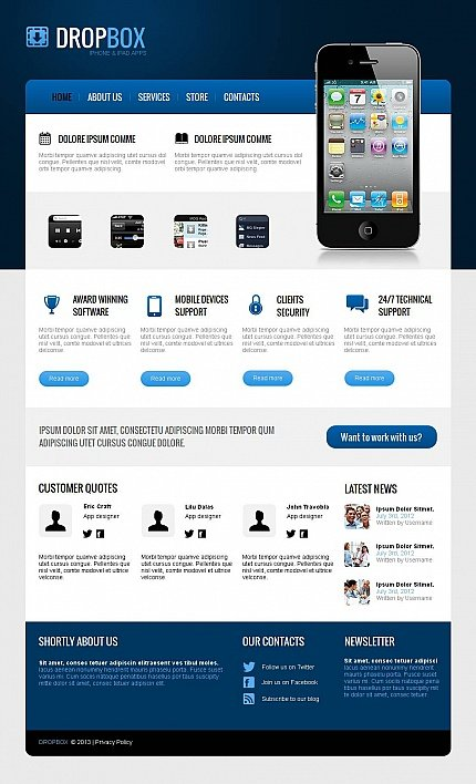 ADOBE Photoshop Template 43826 Home Page Screenshot