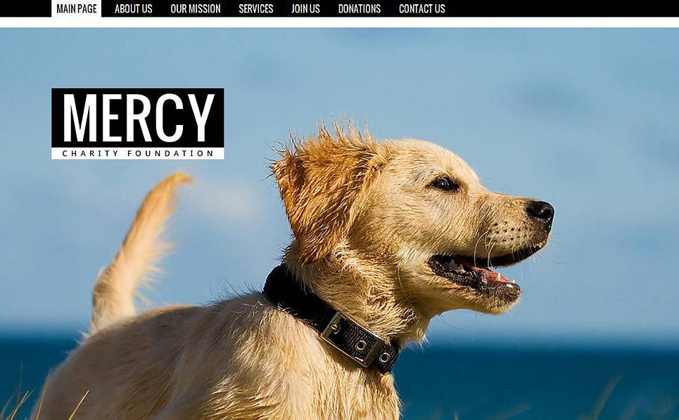 Luxusní Moto CMS HTML šablona na téma Útulek pro zvířata New Screenshots BIG