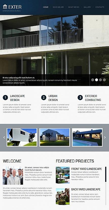 ADOBE Photoshop Template 43832 Home Page Screenshot