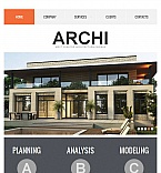 Architecture Facebook HTML CMS  Template 43842
