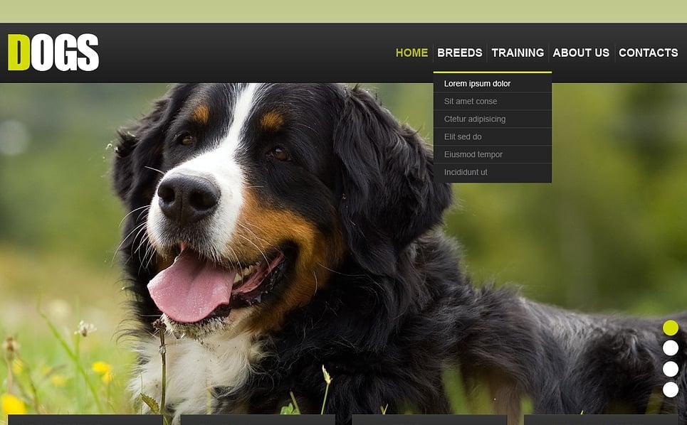 Facebook HTML CMS шаблон на тему собаки New Screenshots BIG