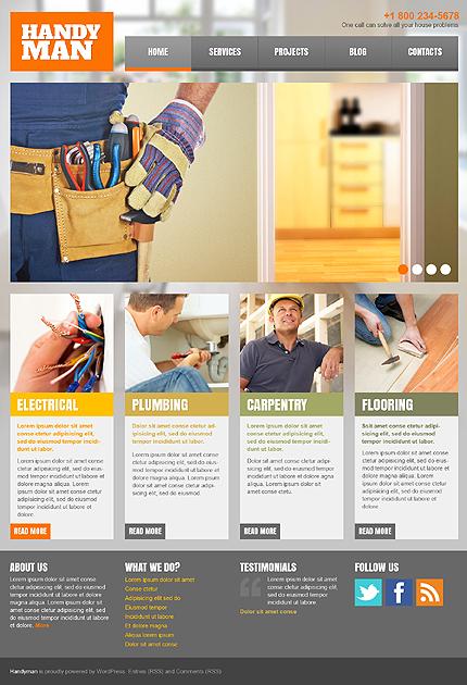 WordPress Theme/Template 43853 Main Page Screenshot