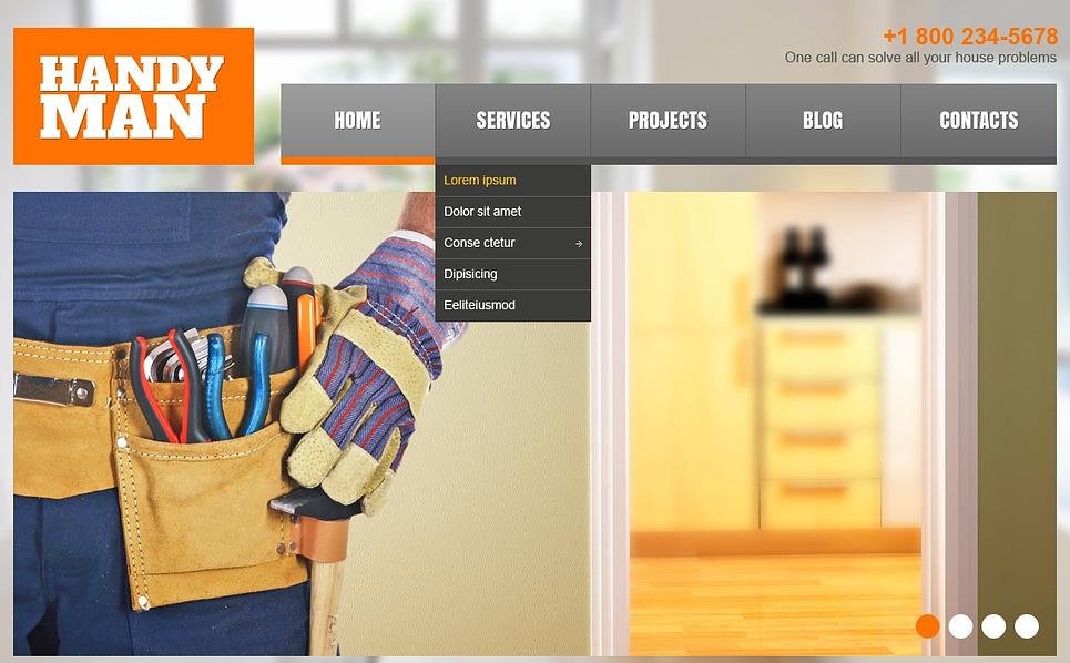 Responzivní WordPress motiv na téma Domácí opravy New Screenshots BIG