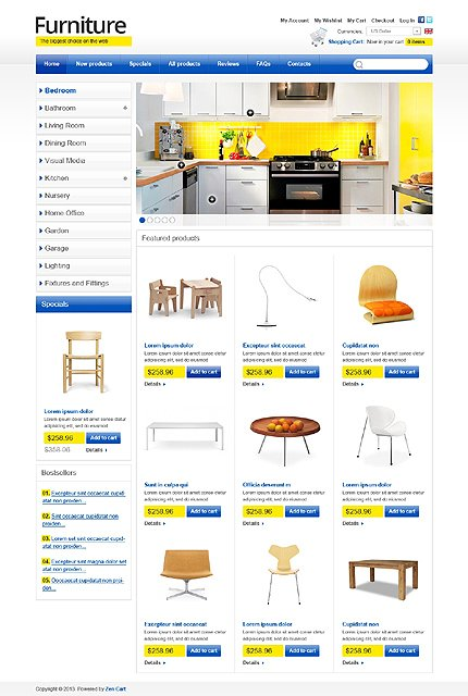 ZenCart Template 43855 Main Page Screenshot