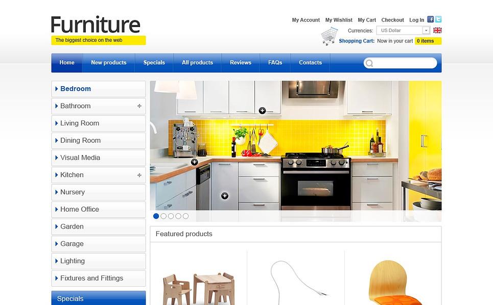 Plantilla ZenCart #43855 para Sitio de Muebles New Screenshots BIG