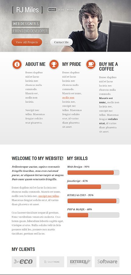 WordPress Theme/Template 43885 Main Page Screenshot