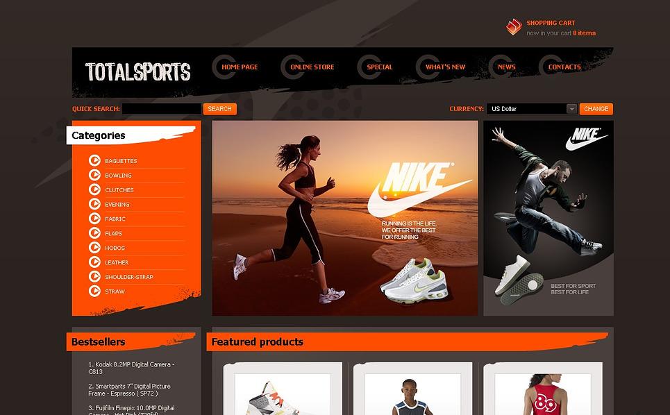 Szablon VirtueMart #43891 na temat: sklep sportowy New Screenshots BIG