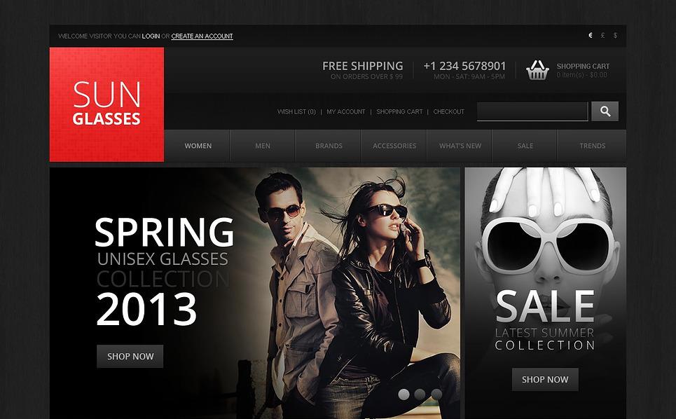 Szablon OpenCart Sklep okularów przeciwsłonecznych #43899 New Screenshots BIG