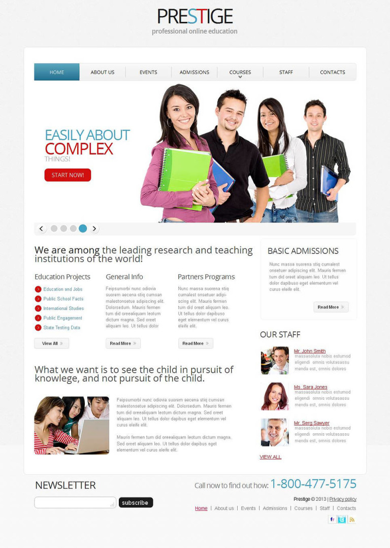 Career Education Moto CMS HTML Template New Screenshots BIG