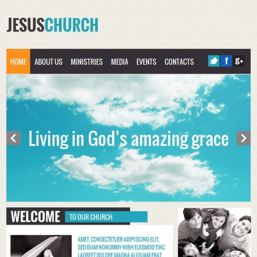Jesus Church - Facebook HTML CMS Template